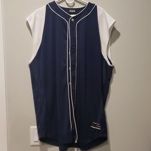 Cool Skin Mens button up Mesh sleeveless Jersey